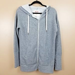 MOSSIMO Supply Co Gray Hooded Sweater Jacket SZ L